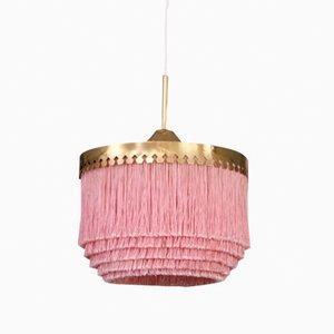 Lámpara de techo T601 en rosado de Hans-Agne Jakobsson, años 60