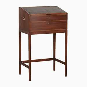 Mahogany Writing Desk On Slim Legs By Svend Langkilde For Langkilde  Furniture, 1970s