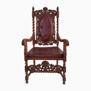 Swedish Baroque-Style Armchair, 1930s