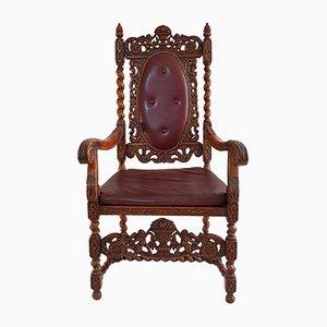 Swedish Baroque-Style Armchair, 1930s