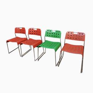 Omstak Stühle von Rodney Kinsman für Bieffeplast, 1972, 4er Set