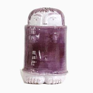 Figurine Anthropomorphe en Céramique par R.J. Cloutier, 1960s