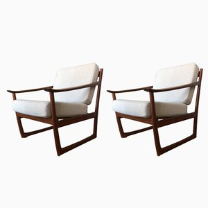FD130 Easy Chair by Peter Hvidt & Orla Mølgaard-Nielsen for France & Søn, 1960s, Set of 2