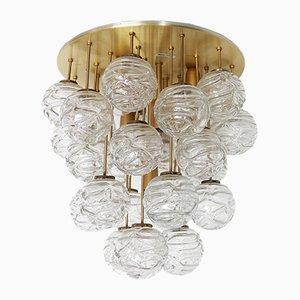 Plafón con bola de cristal de Murano de Doria, años 60