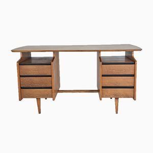 Schreibtisch aus Eiche von Jacques Hauville, 1950er