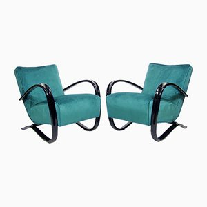 Art Deco H 269 Lounge Chairs by Jindrich Halabala for UP Závody, 1930s, Set of 2