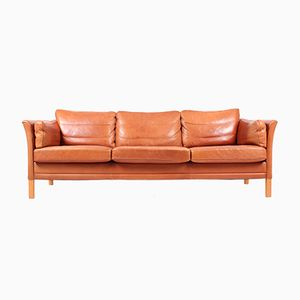 3-Seater Leather Sofa from Mogens Hansen, 1980s