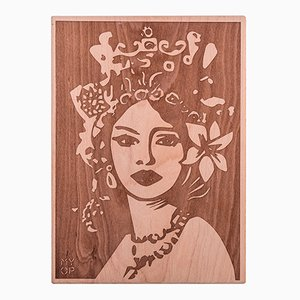Laser-Engraved Mori Wooden Chopping Board from MYOP