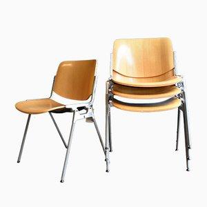 Stapelbare DSC 106 Stühle von Giancarlo Piretti für Castelli, 1960er, 4er Set