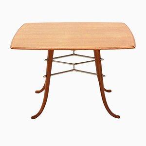 Tavolino da caffè in frassino, ciliegio e ottone, anni '50