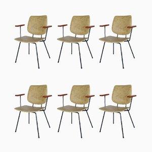 Esszimmerstühle von W.H. Gispen für Kembo, 1950er, 6er Set