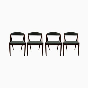 Model 31 Dining Room Chairs by Kai Kristiansen and Schou Andersen, 1960s, Set of 4