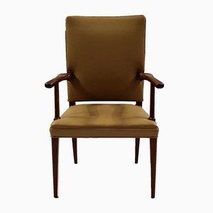 Mahogany & Leather Armchair by Jacob Kjær, 1950s