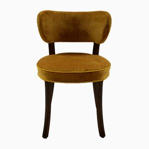 Small Yellow Chair in Mahogany, 1930s