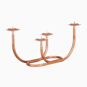 Hammered Copper Candleholder, 1950s