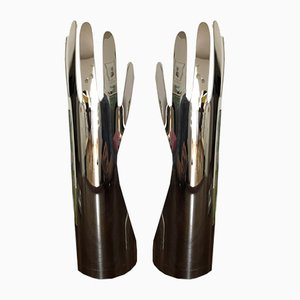 Figuren in Hand-Optik aus Aluminium von Gio Ponti für Christofle, 1970er, 2er Set