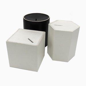 Cajas para monedas de cerámica de Ambrogio Pozzi para Ceramiche Franco Pozzi, años 60. Juego de 3