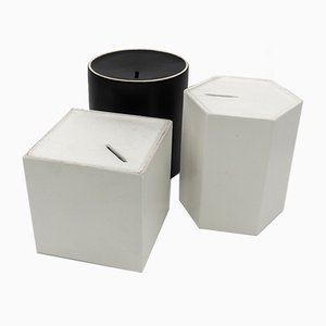 Contenitori per Desideri Behälter aus Steingut von Ambrogio Pozzi für Ceramiche Pozzi, 1966, 3er Set