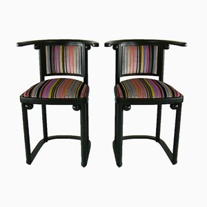 Vintage Cabaret Fledermaus Stühle von Josef Hoffmann für Wittmann, 2er Set
