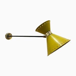 Gelbe Diabolo Wandlampe von Lunel, 1950er
