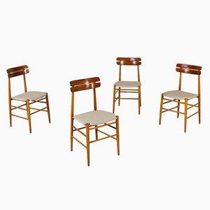 Teak Chairs, 1960s, Set of 4