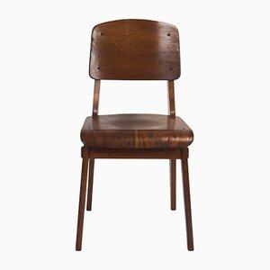 Chaise en Chêne par Jean Prouvé, 1940s