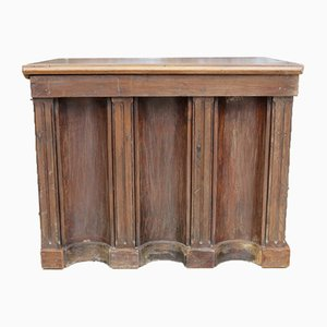 Antique French Oak Cashiers Counter