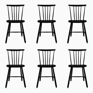 Mid-Century Fanett Chairs by Ilmari Tapiovaara, Set of 6