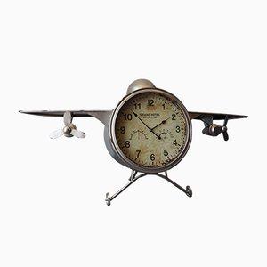 Vintage F30 Aluminum Plane Clock, 1950s