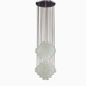 Lámpara de araña Pagoda-Vienna de vidrio de J. T. Kalmar para Kalmar, años 60
