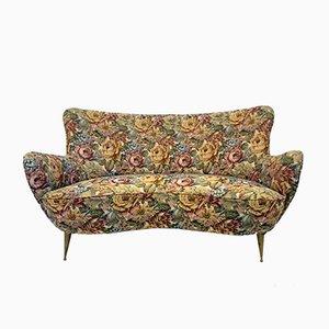 Geschwungenes italienisches Sofa, 1960er