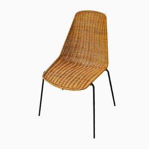 Sedia in vimini di Gian Franco Legler, anni '50