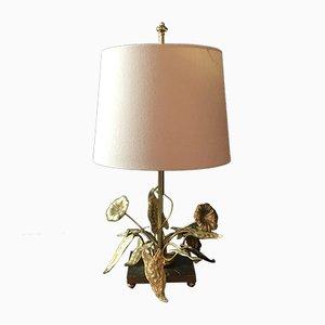 Lampada da tavolo floreale di Maison Charles, anni '60