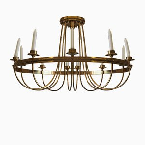 Antique Gilded Brass Chandelier