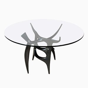 French Gueridon Table by Victor Roman, 1970s