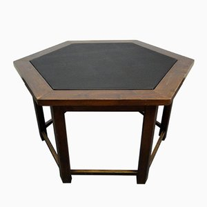 Mesa de juegos hexagonal vintage