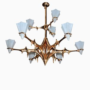 Large Vintage Chandelier by Peter van Heeck