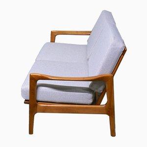 Sofá de dos plazas danés de haya, años 60