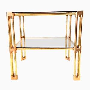Hollywood Regency Brass Side Table, 1970s