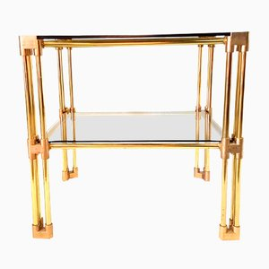 Table d'Appoint Hollywood Regency en Laiton, 1970s