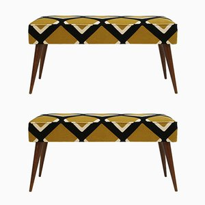 Diamond Benches from Pierre Frey, 1950s, Set of 2