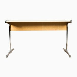 Mid-Century White Chrome Desk by George Nelson for Herman Miller