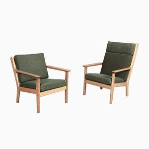 GE-265 Mid-Century Sessel aus Buche von Hans Wegner für Getama, 2er Set