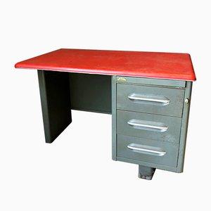 Vintage Schreibtisch aus Metall von Roneo, 1970er