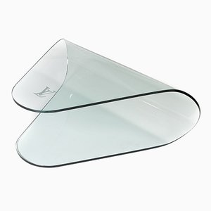 Vintage Tempered Glass Table from Louis Vuitton