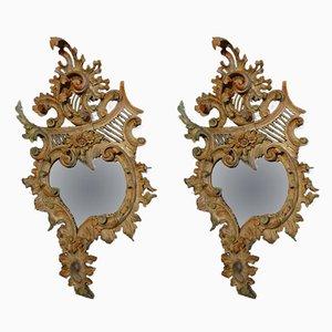 Antique Italian Cornucopia Mirrors, Set of 2