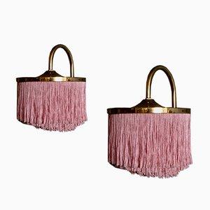 Lámparas de pared modelo V271 en rosado de Hans-Agne Jakobsson, años 60. Juego de 2