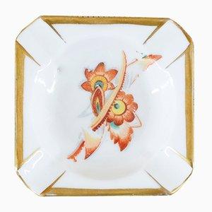 Cenicero floral vintage de porcelana de Oscar Schlegelmilch, años 50