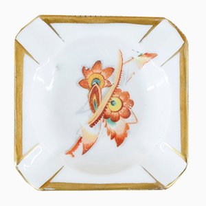 Vintage Floral Porcelain Ashtray from Oscar Schlegelmilch