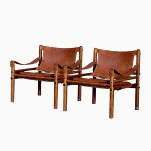Sirocco Safari Chairs von Arne Norell für Arne Norell AB, 1960er, 2er Set